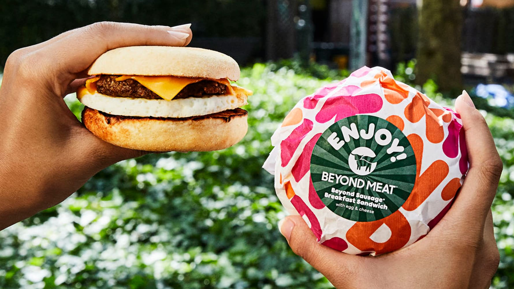 Sustainable Dunkin' Donuts Beyond Sausage Breakfast Sandwich
