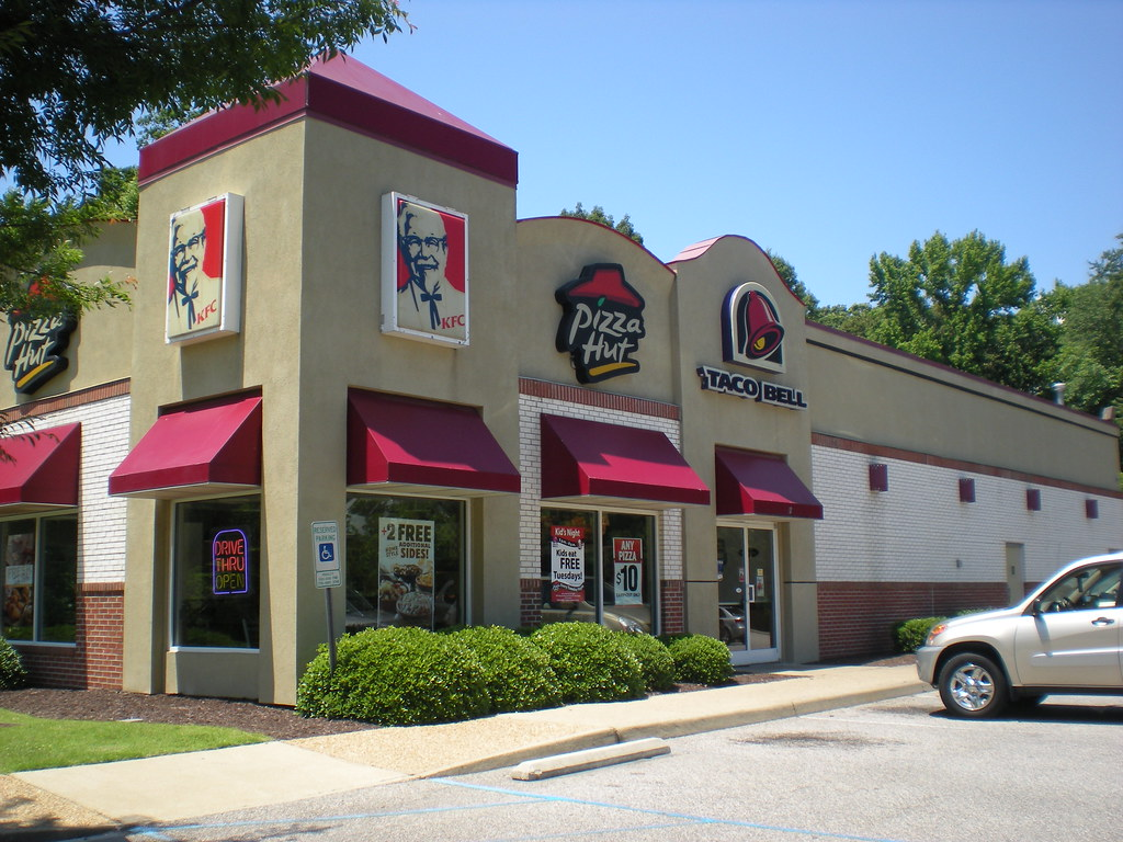 Taco Bell, KFC, And Pizza Hut Restaurants